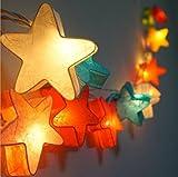 Ghope 3M 20er Laternen LED Lampe Kinder Papierlampen Lichterkette Warmweiß