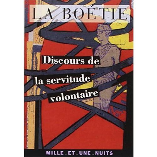 Discours de la servitude volontaire by Etienne de La Boétie(1997-07-01)
