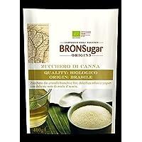 Compagnia degli Zuccheri Bronsugar Canna Azúcar Calidad biológica Origen Brasil Cristales blancos y finos Bebidas Postres y yogur con un delicado ramo de miel de acacia - 2 x 400 gramos