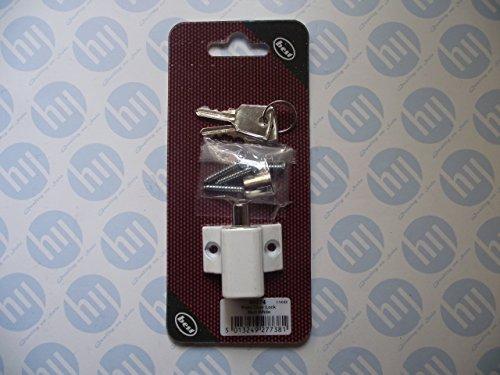 Best Terrasse Tür Lock matt weiß 40274(2Schlüssel) -