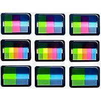 Yolito 9set Index Sticky Marcadores Tape Flags Autoadhesivo Escribible Translúcido, 3 Tamaños (600 piezas)