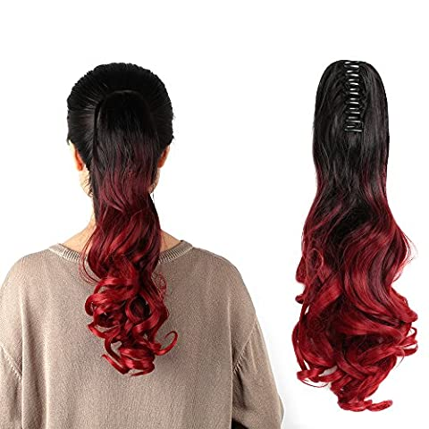 Neverland Three Colors Ombre Hair Extension Clip In Hair Extensions Triple Ombre Body Wave Synthetic Ponytail Hair