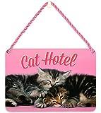 Cat Plaque Gift - Shaped Tin Plaque - Cat hotel