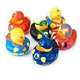 Gummiente Superhelden 6 Stück Gummi-Ente
