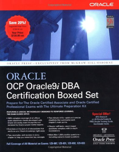 OCP Oracle9i DBA Certification Boxed Set (Osborne Oracle Press Series) por Jason Couchman