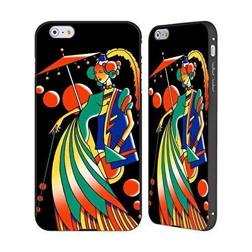 Ufficiale Howie Green Pop Art Profilo Cosmico Donne Astratte Nero Cover Contorno con Bumper in Alluminio per Apple iPhone 5 / 5s / SE Art Deco 4