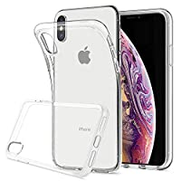 HOOMIL Apple iPhone X/XS Case Clear Silicone Phone Case Cover (Transparent)