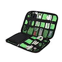 BAO CORE Multi-function Digital Travel Holiday Tidy Organiser Waterproof Shockproof Packing Package Bag for USB Cable Charger SD Card Earphone,Black
