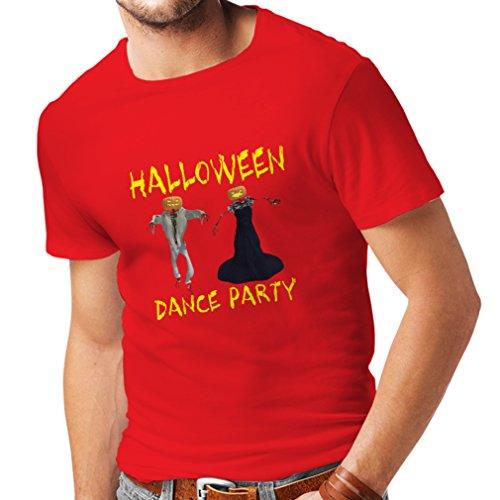 Männer T-Shirt Coole Outfits Halloween Tanz Party Veranstaltungen Kostümideen (X-Large Rot Mehrfarben) (Brownies Halloween Monster)