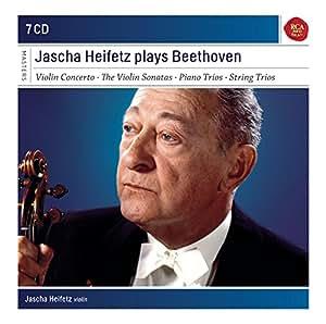 Jascha Heifetz interprète Beethoven : Concerto pour violon - Sonates pour violon - Trios à cordes et avec piano