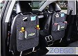 Autositz-Organizer, 2Stück, multifunktional, dicker Filz, Reisefächer, einfach zu installieren und entfernen und großes Fassungsvermögen