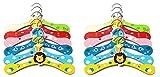 #7: Mayatra's Colorful Cartoon Animal Children Hanger Infant Kids Wooden Coat Clothes Hooks, Pack of 12