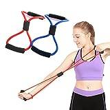 odowalker Übungsband 8Typ Widerstand Bands Seil Tube Workout Fashion Bodybuilding Fitness Equipment Werkzeug für Hom