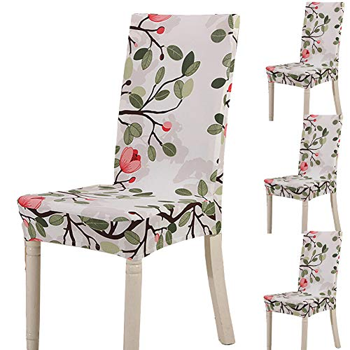 Teerfu coprisedia, 4 pezzi,protezione elasticizzata rimovibile in spandex per sedie da pranzo, ultra aderente, per banchetti, hotel e cerimonie nuziali, lavabile color 9