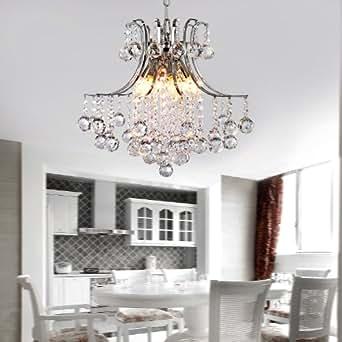 LightInTheBox® Modern Luxury contemporain cristal Hangling Light Pendant Chandelier 6 Lumières pour chambre à coucher, salle à manger, et Hallyway ENTERY