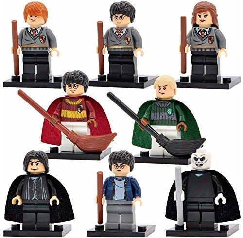 Spielfiguren-Set, Design: Harry Potter, komplettes Set, 8-teilig (Draco Malfoy Lego)
