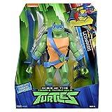 Giochi Preziosi Teenage Mutant Ninja, Turtles Rise Off, Personaggi Giganti 30 cm con Suoni, Leonardo Backflip Attack