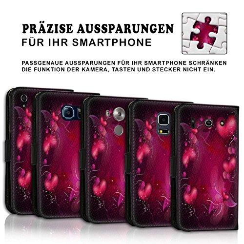 Wallet Book Style Flip Handy Tasche Case Schutz Hülle Schale Motiv Etui für Apple iPhone 6 / 6S - Variante UMV35 Design9 Design 3
