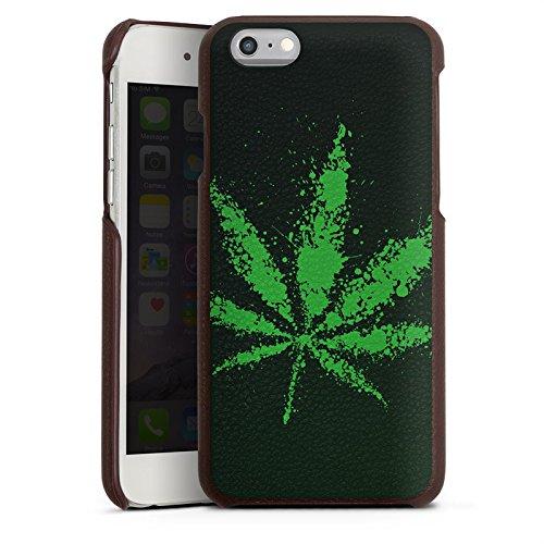 Preisvergleich Produktbild Apple iPhone 6s Lederhülle Leder Case Leder Handyhülle Blatt Gras Hanf