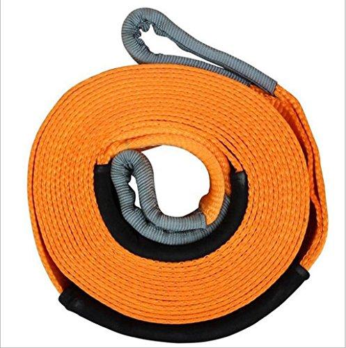 QJONKE -Schleppseil Schleppen Schleifen Doppelschicht Nylon U-förmiger Stahlhaken, Gelb, 5M 6M oder 9M, 5T 8T 12T , a