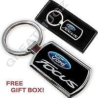 Ford Focus coche Llavero Clave Cadena Anillo Llavero de metal, nuevo