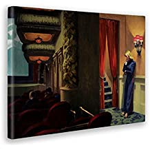5f2d203b220fb Giallo Bus - Cuadro - Impresion En Lienzo - Edward Hopper - Cinema A New  York