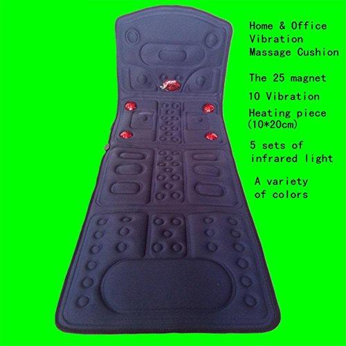 AMYMGLL Massage Matratze 10 Gruppe Vibrator 5 Gruppe Infrarot Lampe Hals Schulter Taille Rücken Heizung Vibrationskörper Massagematte Timing Handheld Infrarot Physiotherapie dunkelblau (Leder-sofa-bett-satz)