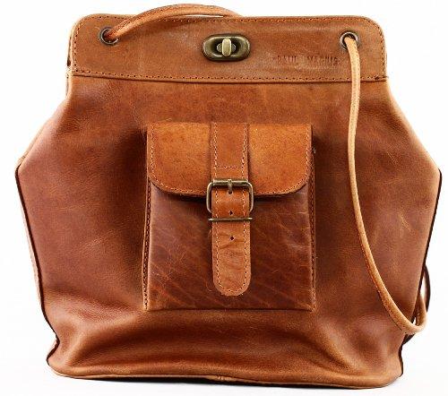 PAUL MARIUS damentasche handtasche inspiriert von den 50er Jahren ledertasche braun LE (1950 Schuhe)