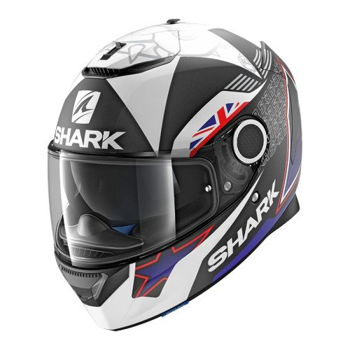Shark. Casco de moto Spartan Redding mate KBW