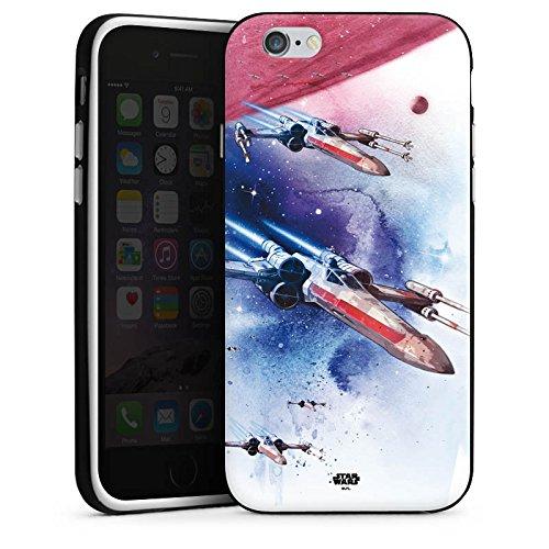 Apple iPhone 5 Silikon Hülle Case Schutzhülle Star Wars Merchandise Fanartikel X-Wing Silikon Case schwarz / weiß