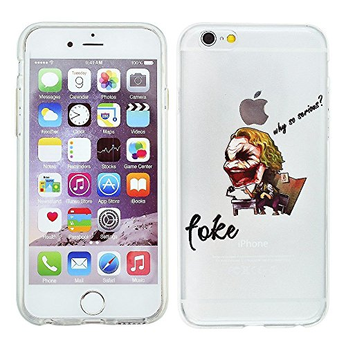 Blitz® SUPERHELDEN Schutz Hülle Transparent TPU Comic iPhone  Paris M15 iPhone 6 6s Joker M9