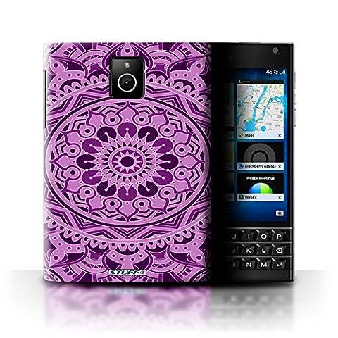 Coque de Stuff4 / Coque pour Blackberry Passport / Rêve/Violet Design / Art Mandala Collection