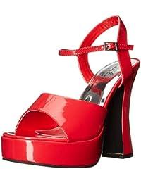 Ellie Chaussures Femme 557-lea Sandale à talons - Rouge - Red,