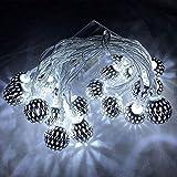 Maroc Boule Led Chaîne Batterie Usb Vacances Décoration De La Maison Lampe De La Lampe De Lumière Extérieure Boule Blanche 3 Mètres 20 Lumières (Usb)