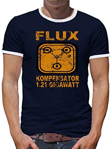 TLM Flux Kompensator 1.21 Gigawatt Kontrast T-Shirt Herren M - Doc-halloween-kostüm