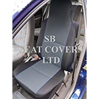 YS 01 ROSSINI GREY//BLACK 2 FRONTS TO FIT A MITSUBISHI L 200 CAR SEAT COVERS