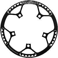 Dioche Plato de Carretera, MEIJUN 53T CNC AleacióN De Aluminio De Bicicletas De MontañA Solo Manivela Ring Ring Repair Parts(Black)
