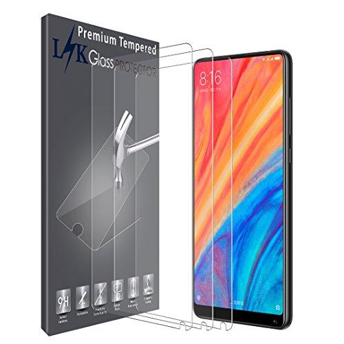 LK Protector de Pantalla para Xiaomi Mi Mix 2s, [3 Pack] Vidrio Templado Screen Protector [Garantía Vitalicia De Sustitución]