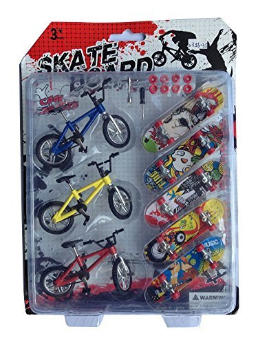 Mini Finger Sports Skateboards with Endoluminal Metallic Stents/educational Finger Toy 3 Bicycles 5 Skateboards