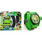 Jmd Impex Ben 10 Train Set+Ben 10 Projector Watch 24 Image...Combo Pack Of 2