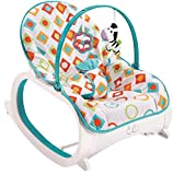 #2: Fiddle Diddle Baby Bouncer Cum Rocker with Vibration Function, Height Adjustment, Calming Music and 2 Toys (Multi White)