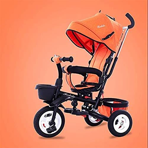Hclshops Kinder-Dreirad 1-6 Jahre alt Leichter Klappwagen mit UV-Markise, 6 Farben erhältlich (Color : 4)