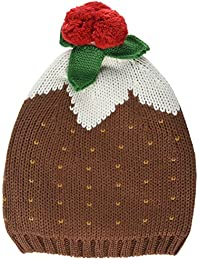 Christmas Knitted Pudding Hat - Brown