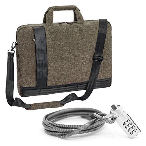 """PEDEA Notebooktasche """"Fancy"""" für 17,3 Zoll (43,9cm) mit Schultergurt und Notebookschloss, beige"""