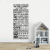 Geiqianjiumai dans Cette règle de Famille Sticker Mural Maison Vinyle Mural Citation Famille mutuelle Citation Amour Affiche Murale décoration de la Maison 25cm x 57cm...