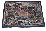 Marrakech Accessoires Indischer Wandbehang Wandteppich Patchwork 158 x 110 cm
