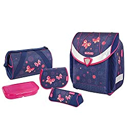 Herlitz Schulranzen Flexi Plus Set, 39 cm, Butterfly Dreams
