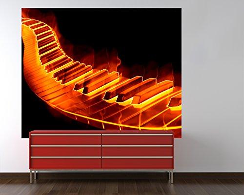 "Vlies Fototapete mit Winter SALE ""Keyboard on fire"" 220x180 cm - inklusive Kleister - Tapetenkleister – Bild auf Tapete – Bildtapete – Foto auf Tapeten – Wand – Wandtapete – Vliestapete – Wanddeko - Design"