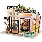 NZHSAMJ Miniatur Kits DIY Häuschen Selbstgemachtes Geschenkhausmodell DIY-Häuschens, das...