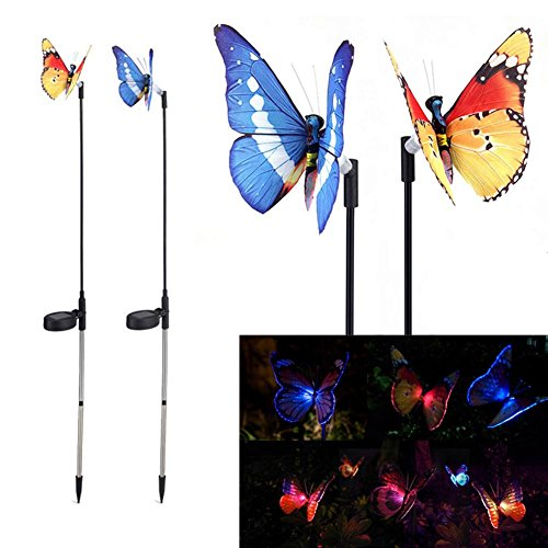 Espeedy 2 stücke Solar Power Licht Outdoor Schmetterling Garten Stake Party Dekorationen Lichter Liefert
